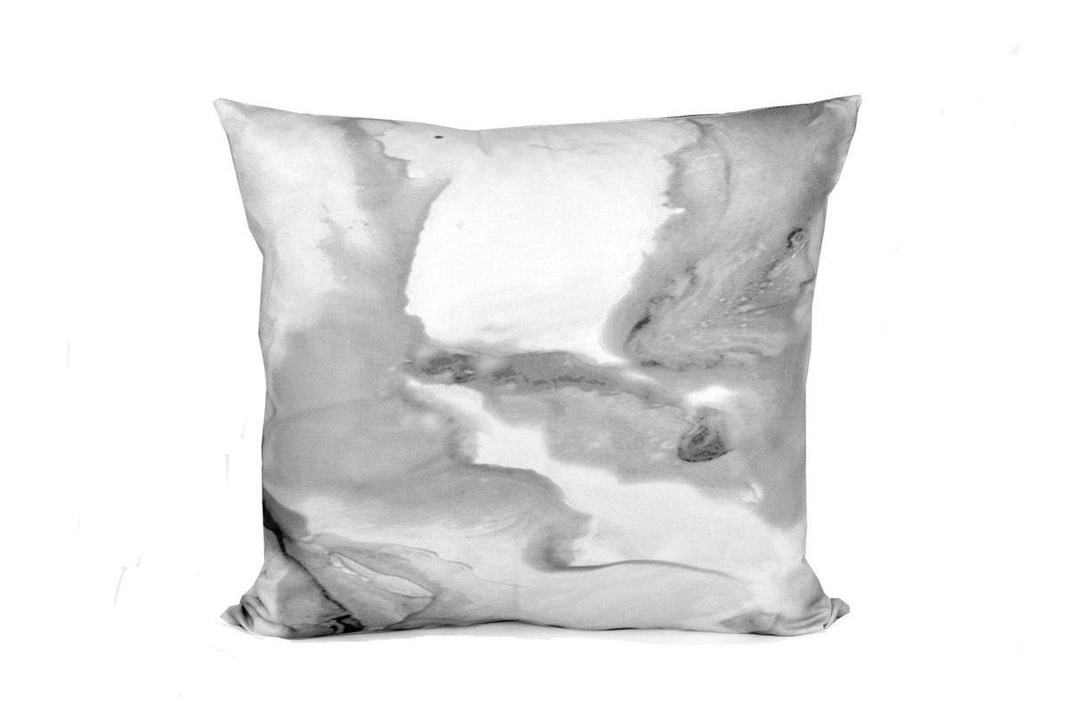 Black White And Gray Throw Pillows : Marble Decorative Pillow Black White And Grey Pillow Cover