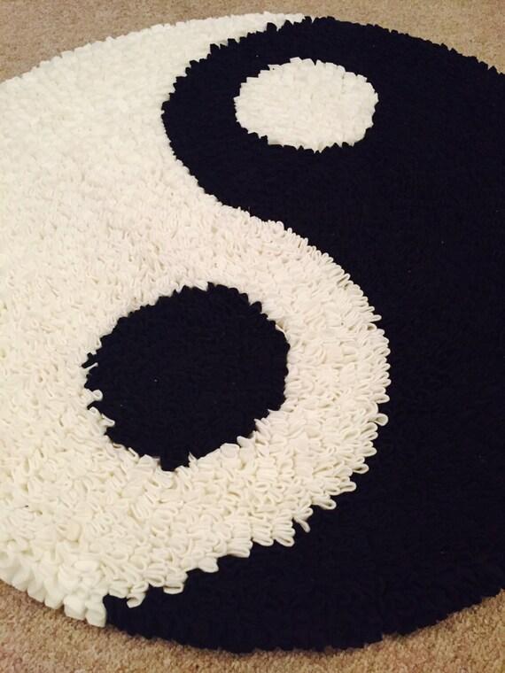 Items Similar To Handmade Yin Yang Rag Rug On Etsy
