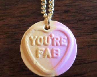 Fun colourful love heart necklace