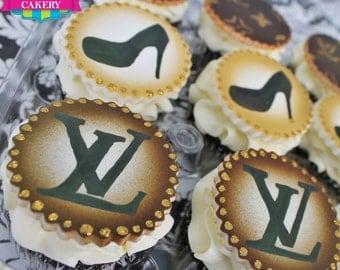 LV Cupcake Toppers - 1 Dozen