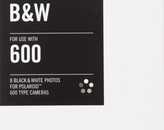 Polaroid 600 Film by Impossible Project, Black and White, B&W, one Pack-8 Exposures