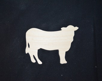 Handcrafted Wooden Unfinished Cow Cutout