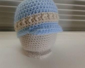 Blue Newsboy Hat