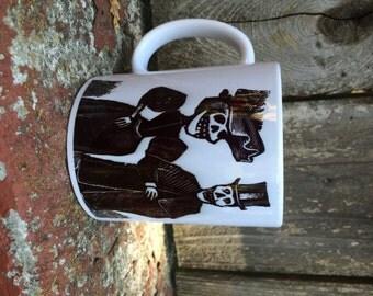 Skeleton Couple Ceramic Mug