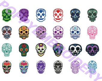 SUGAR SKULL Design for Embroidery machine  / crane mexicain pour broderie machine / instant download