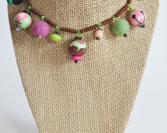 Necklace and earring -very unique handmade set