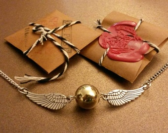 Golden Snitch Bracelet! It's easy to put on, but you have to catch it first!