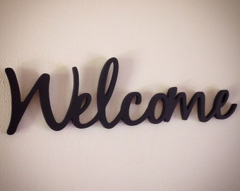 WELCOME word art cutout