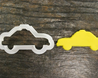 Taxi Cab Cookie Cutter, Mini and Standard Sizes, 3D Printed