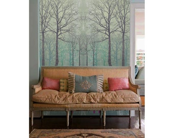 Winter forest, adhesive wall decor