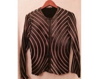 Women's Vintage Jacket High Fashion Wearable Art Osstinee Jacket Size 10