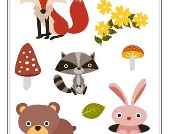 C022- Woodland Creature Stickers- 2