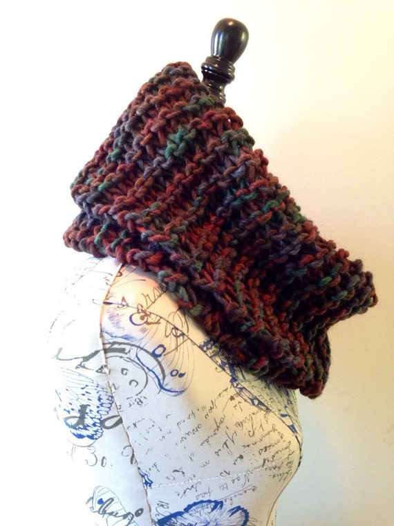 Infinity Scarf Knitting Pattern Super Bulky : Super bulky chunky hand knit cowl scarf by KnittinKittenNC ...