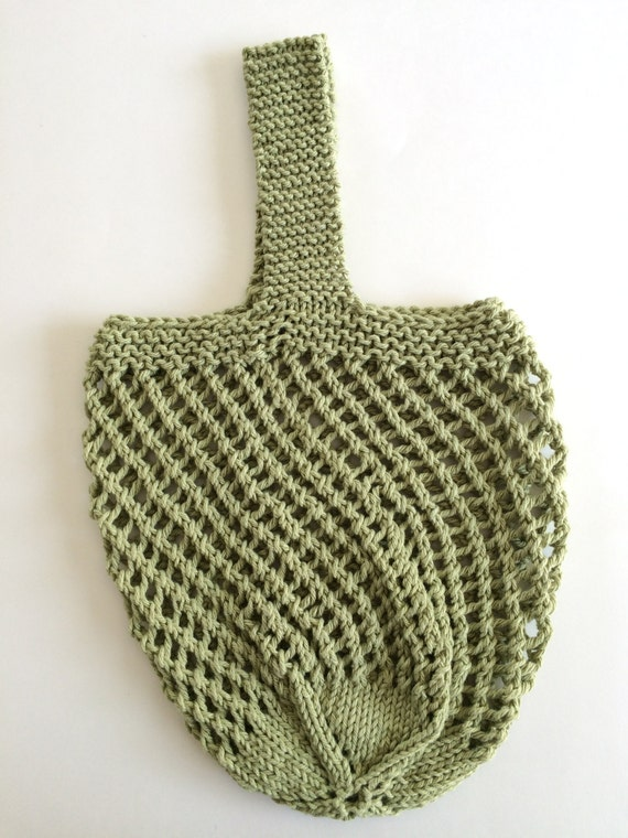 Knitting Pattern Grocery Bag : Knit Market bag Knitted bag Grocery bag knit by ...