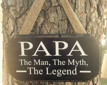 Papa The Man The Myth The Legend, Customizable, Tata, Grandpa, Pop-Pop