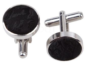 Paisley Black Cufflinks