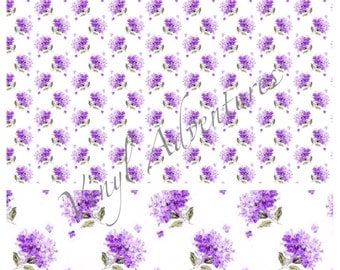 Floral Heat Transfer Vinyl, Purple Lilac, Flower, Pattern HTV, Mother's Day, 1 Sheet, Siser Easyweed, HTV, Printed, Patterned, T Shirt Vinyl