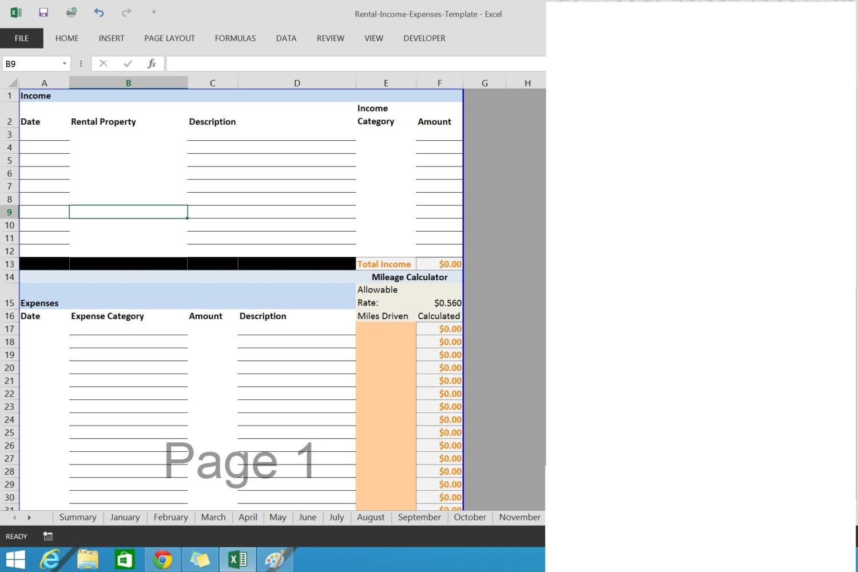 Excel Arbeitsblatt Ausschneiden : Mieteinnahmen und ausgaben excel arbeitsblatt vorlage