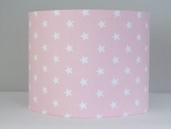 Handmade light baby pink white star lampshade 20cm 25cm 30cm like this item aloadofball Gallery