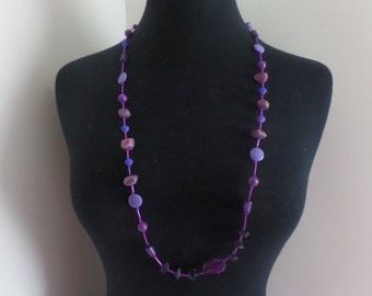purple beaded necklace