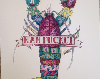 Nantucket Lobster Print