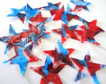 Star Confetti, Red White Blue Stars, Fourth of July Confetti, July 4th Confetti, Superhero Confetti, Election Confetti, Patriotic Confetti