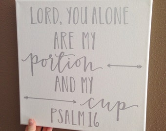 Psalm 16 Hand Lettered Canvas