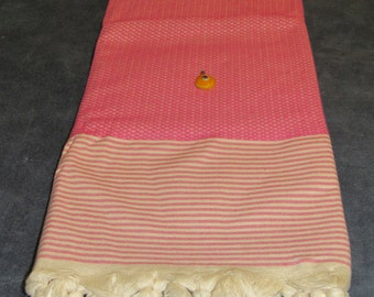 Pink Thick Turkish Bath Towel
