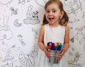 Giant coloring poster, Giant coloring, kids game, coloring, poster, kids, black and white, decor