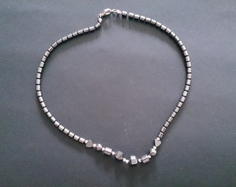 Hematite Choker Style Necklace