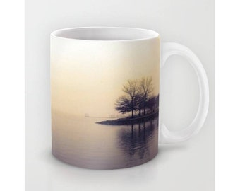 Nature Scene Coffee Mug Buy 1 We Give 1 Foggy River Coffee Mug Shop with Purpose Socially Responsible Coffee Lovers Tea Lovers