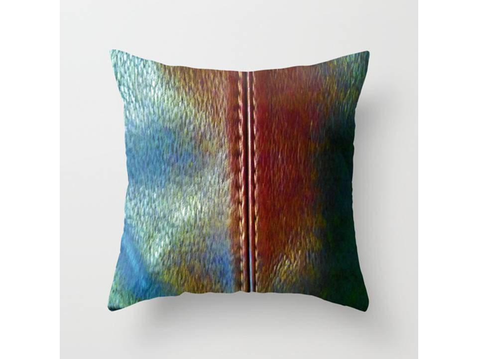 Throw Pillows Faux Leather : Faux Leather Throw Pillow Cover Indoor Throw Pillow Cover