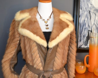 Oh MY!  Gorgeous Leather and Mink Jacket