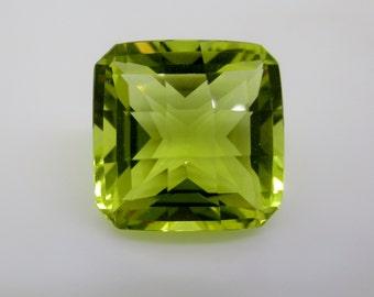 Lemon Quartz Loose Natural Brazilian Gemstones Bright Lemon Yellow Hand Cut 18.58 ct