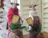 Dasher the Reindeer - Primitive Christmas Decoration