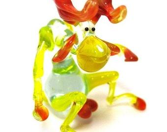 Glass moose , Animals Glass, Art Glass, elk Blown Glass, Sculpture Made Of Glass, Glass Art