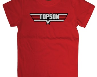 Top Son Baby / Kids (Red / Black) 100% Cotton T-shirts