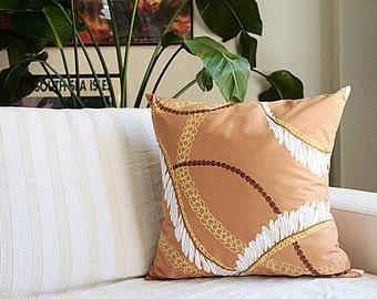Hawaiian lei,cushion cover,beige,white ginger ,Puakini,HNLS02219