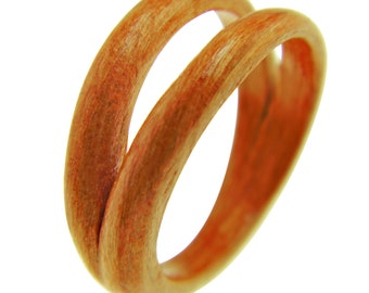 Hand Carved Bentwood Ring - Carved Wood Ring - Wood Jewelry - Ring - Jewelry -  Eco Friendly - Unique Ring - For Him - Gift - Boho Ring