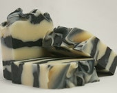 Zephyr ~ Activated Charcoal, Wintergreen & Anise, Handmade Cold Processed, All Natural Vegan Soap