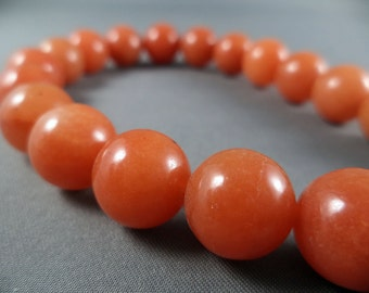 Orange Aventurine Beads - 12mm - 16 Inch Strand