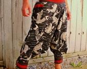 Big Koi Fish Hill Tribe Samurai Pants (Unisex) SM003c
