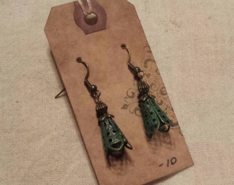 Handmade antique look earrings