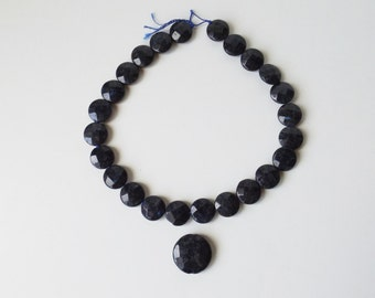 Natural Chinese Labradorite faceted beads set ( #J1281)