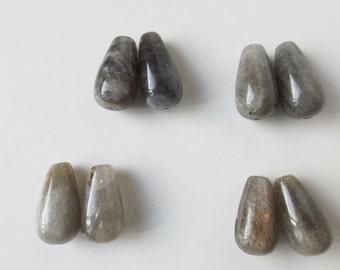 Natural Labradorite 20x10 mm 8 beads ( #J1295)