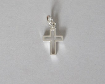 Sterling Silver, Cross Charm, Cross Pendant, 14x27mm, Fast Shipping from USA