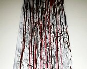 "Original work of Creepy Art by Chris Uptergrove. ""Drip"" Dexter Blood Splatter Painting. Unusual Bizarre Unique Rare Halloween Decoration."