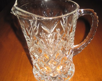 Vintage 4 1/2 mini glass water pitcher