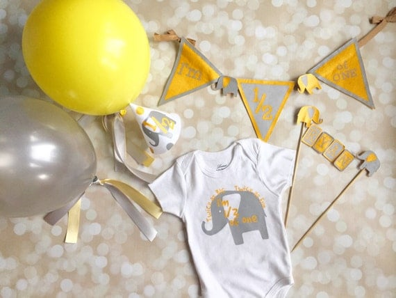 Half birthday outfit and party decoration set 1 2 birthday for 6 month birthday decorations