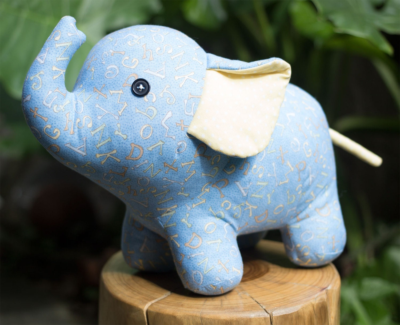 Soft Toy Patterns : Stuffed elephant pdf sewing pattern tutorial